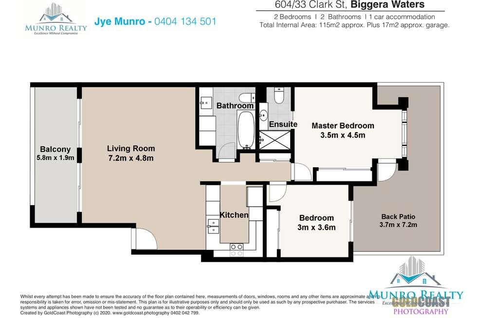 Floorplan of Homely unit listing, 604/33 Clark Street, Biggera Waters QLD 4216