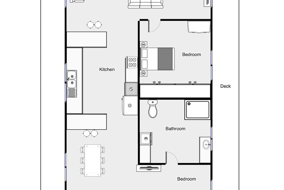 Floorplan of Homely house listing, Houseboat, Discovery Parks, Buronga NSW 2739