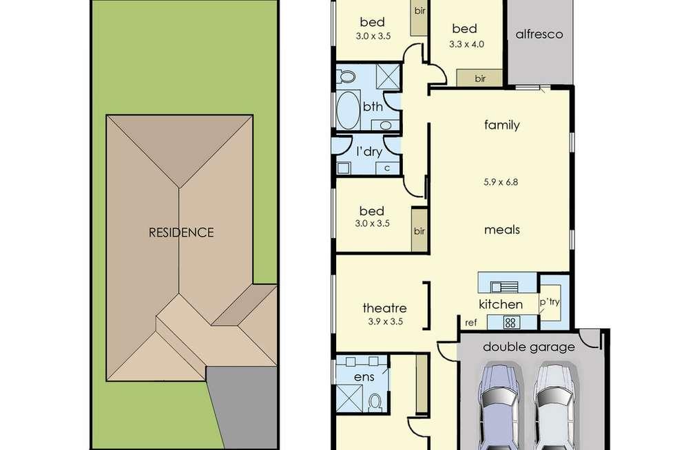 Floorplan of Homely house listing, 7 Rockies Ridge, Pakenham VIC 3810