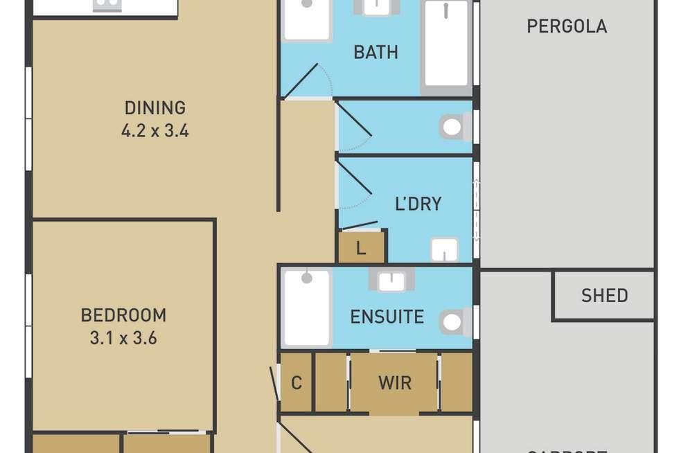 Floorplan of Homely house listing, 61 Northampton Crescent, Caroline Springs VIC 3023