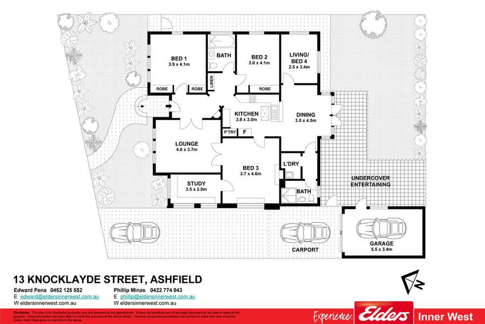 Floorplan of Homely house listing, 13 Knocklayde Street, Ashfield NSW 2131