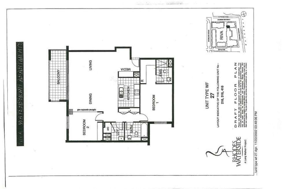 Floorplan of Homely apartment listing, 316/11 Lewis Avenue, Rhodes NSW 2138