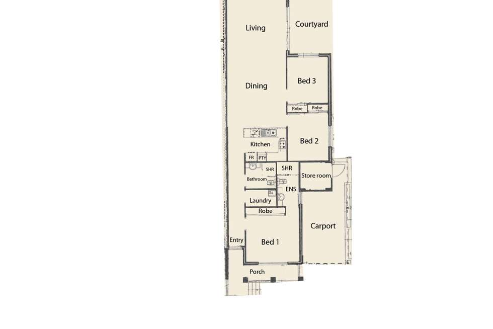 Floorplan of Homely house listing, 2/42 Olive Road, Falcon WA 6210
