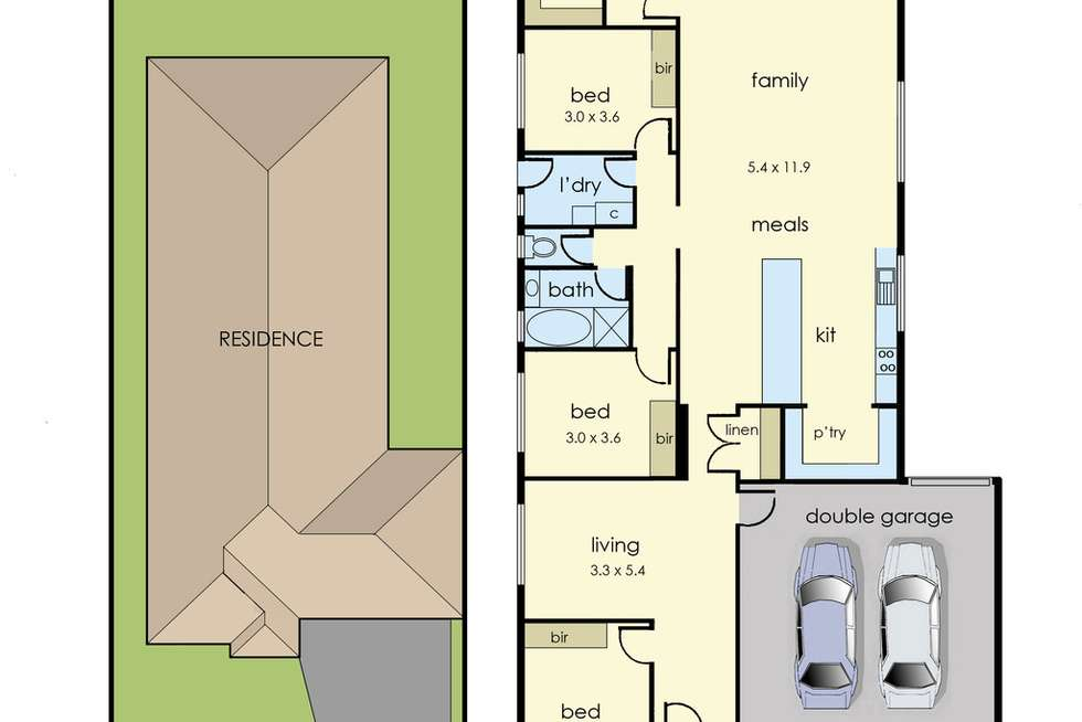 Floorplan of Homely house listing, 4 Unison Drive, Clyde VIC 3978