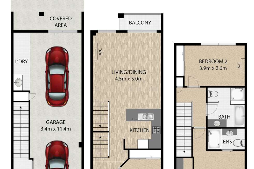 Floorplan of Homely townhouse listing, 9/39-41 Surman Street East, Birkdale QLD 4159