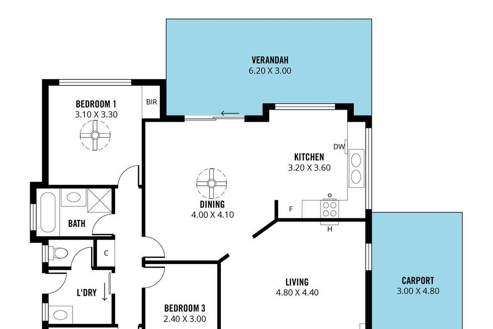 Floorplan of Homely house listing, 13 Southbound Avenue, Aberfoyle Park SA 5159