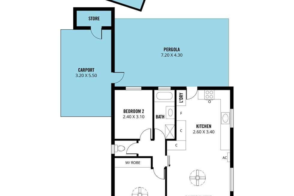 Floorplan of Homely unit listing, 5/2a Easton Road, Morphett Vale SA 5162