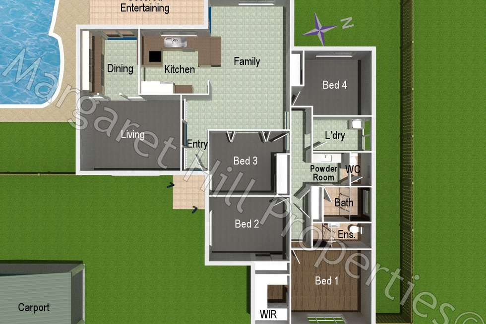 Floorplan of Homely house listing, 3 Gledhill Court, Annandale QLD 4814