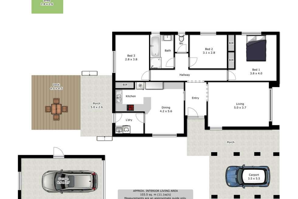 Floorplan of Homely house listing, 10 Maneroo Court, Wodonga VIC 3690