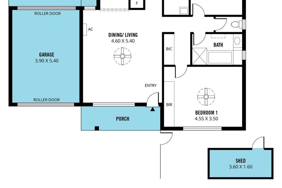 Floorplan of Homely unit listing, 4/10 Ellis Avenue, Morphett Vale SA 5162