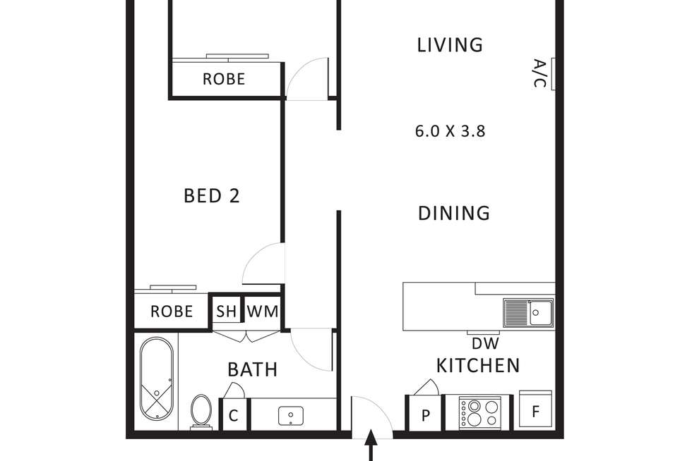 Floorplan of Homely apartment listing, 102/30 Wreckyn Street, North Melbourne VIC 3051