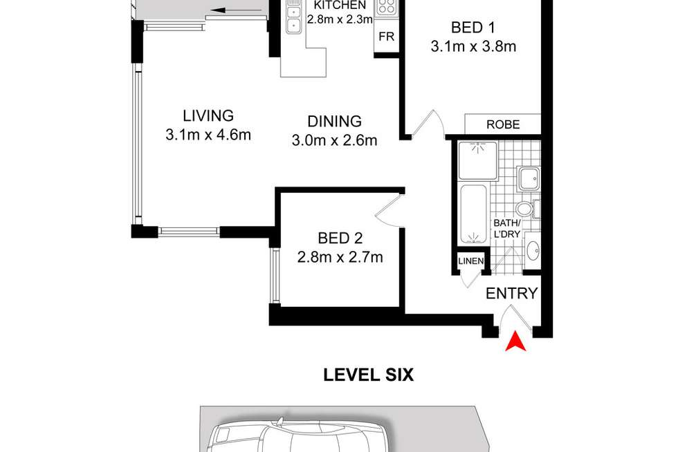Floorplan of Homely apartment listing, 6C/6 Macleay Street, Potts Point NSW 2011