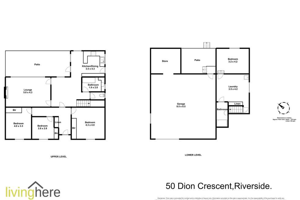 Floorplan of Homely house listing, 50 Dion Crescent, Riverside TAS 7250