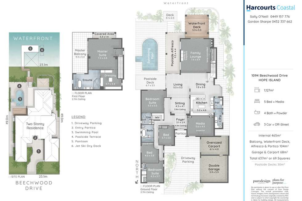 Floorplan of Homely house listing, 1094 Beechwood Drive, Hope Island QLD 4212