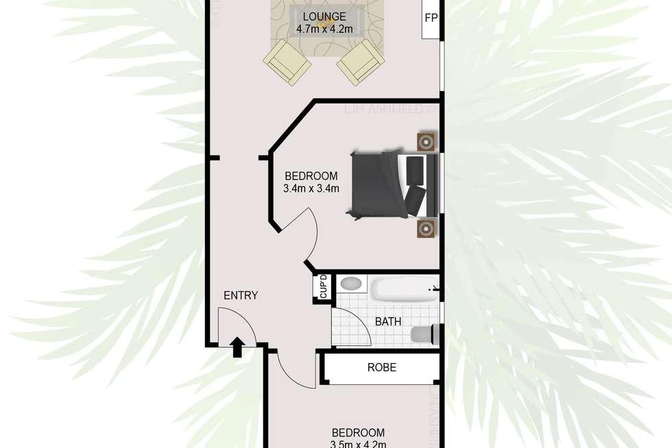 Floorplan of Homely unit listing, 4/128 Parramatta Road, Ashfield NSW 2131