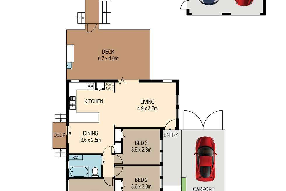 Floorplan of Homely house listing, 108 Winstanley Street, Carina Heights QLD 4152