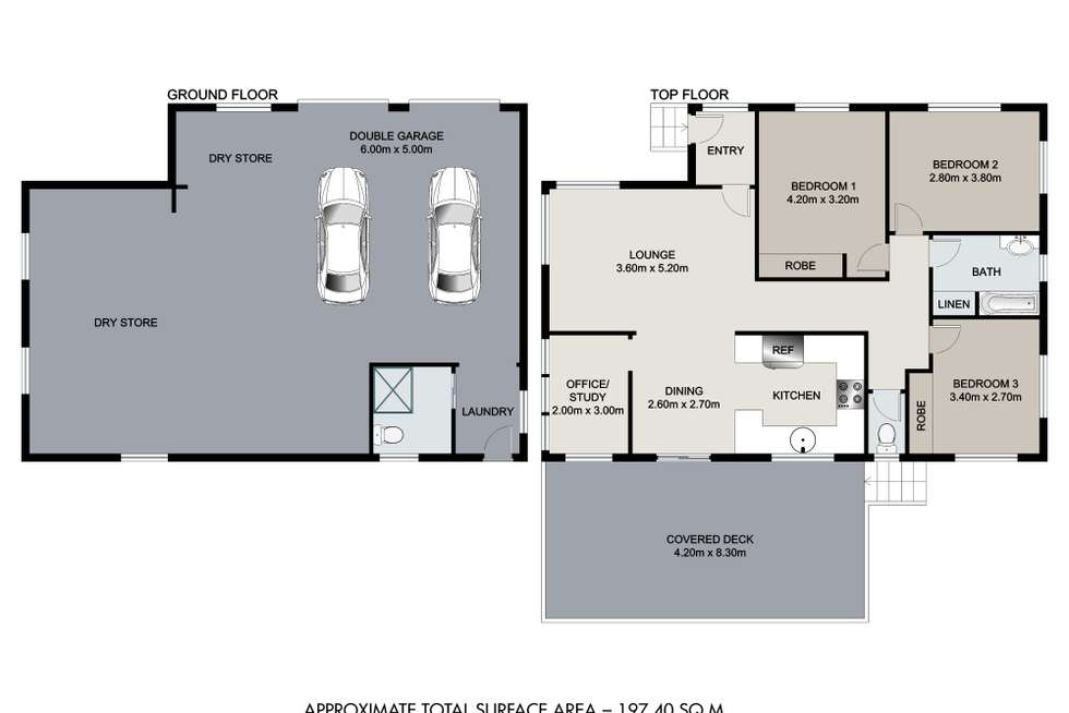 Floorplan of Homely house listing, 6 Vickers Street, Carina Heights QLD 4152
