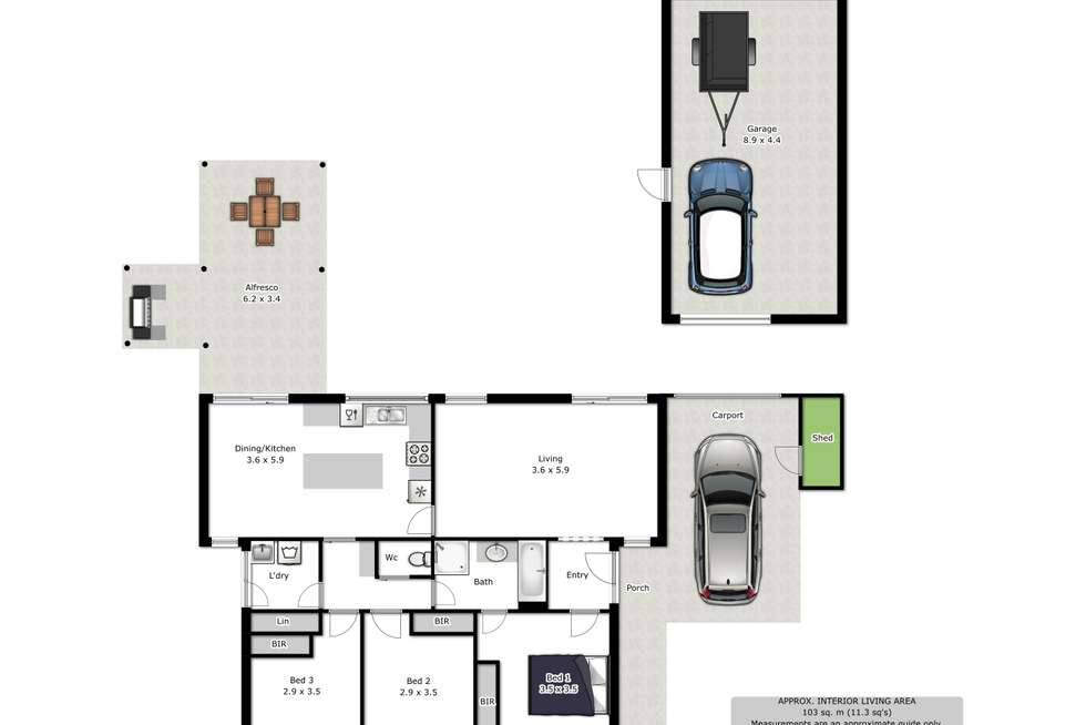 Floorplan of Homely house listing, 25 Wiltshire Crescent, Wodonga VIC 3690