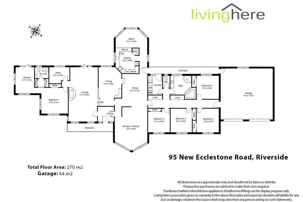 Floorplan of Homely house listing, 95 New Ecclestone Road, Riverside TAS 7250