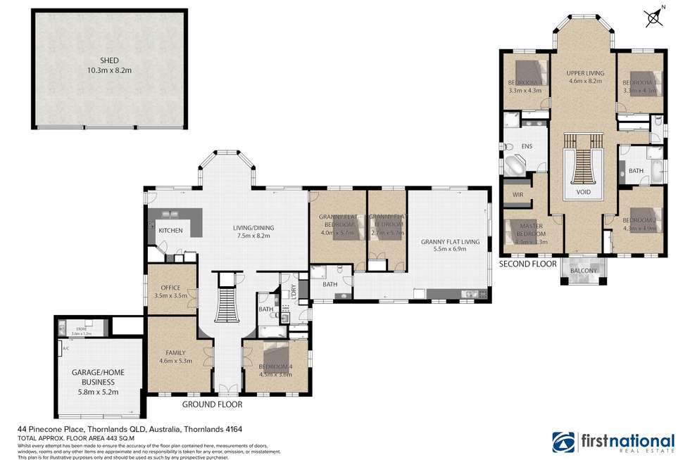 Floorplan of Homely house listing, 44 Pinecone Place, Thornlands QLD 4164