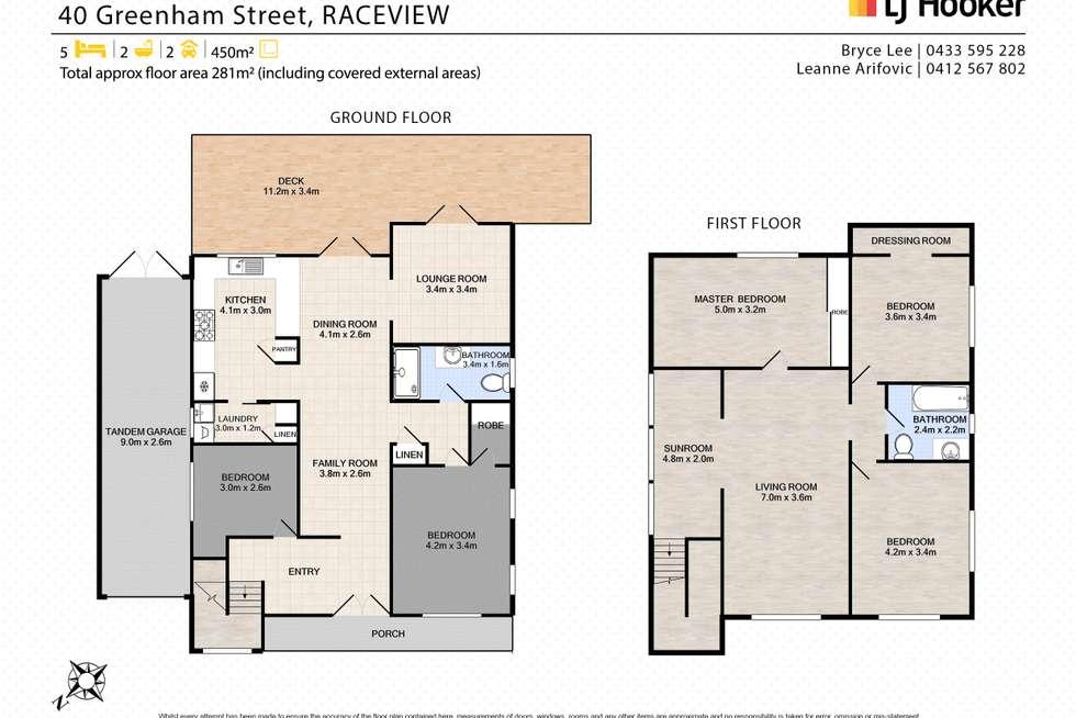 Floorplan of Homely house listing, 40 Greenham Street, Raceview QLD 4305