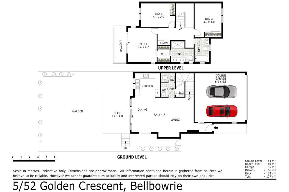 Floorplan of Homely townhouse listing, 5/52 Golden Crest Place, Bellbowrie QLD 4070