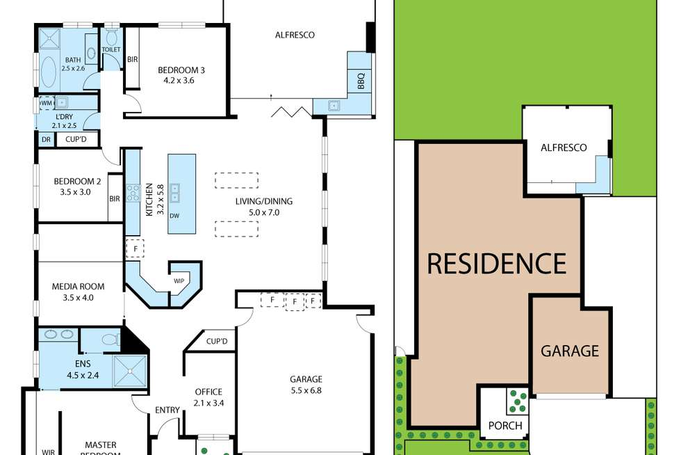 Floorplan of Homely house listing, 12 Acacia Close, Trafalgar VIC 3824