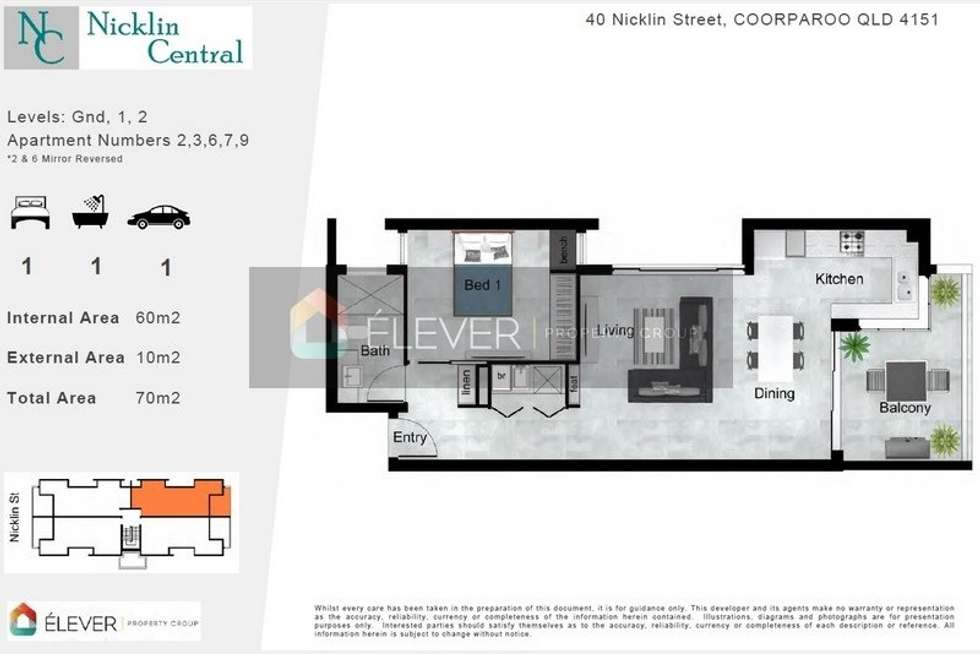 Floorplan of Homely apartment listing, 9/40 Nicklin St, Coorparoo QLD 4151