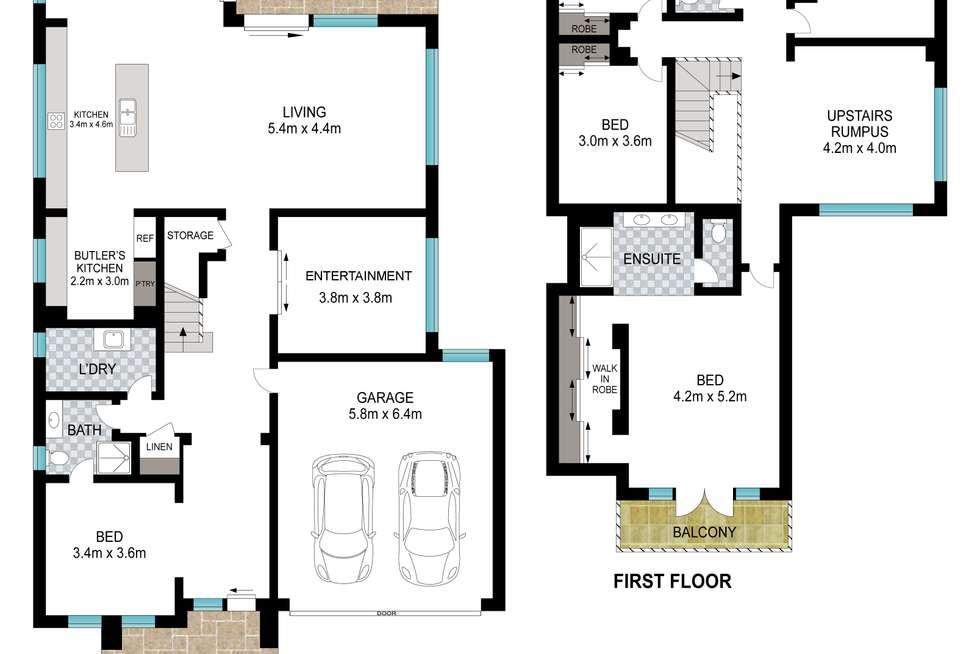 Floorplan of Homely house listing, 17 Patrol st, Leppington NSW 2179