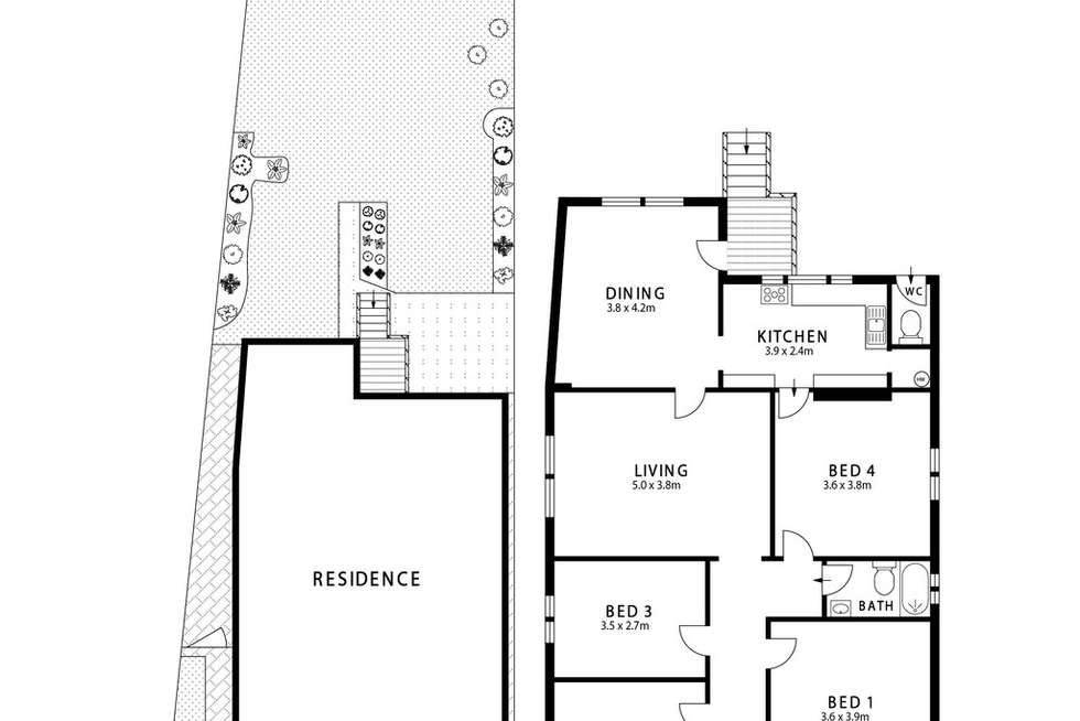 Floorplan of Homely house listing, 141 Milton Street, Ashfield NSW 2131