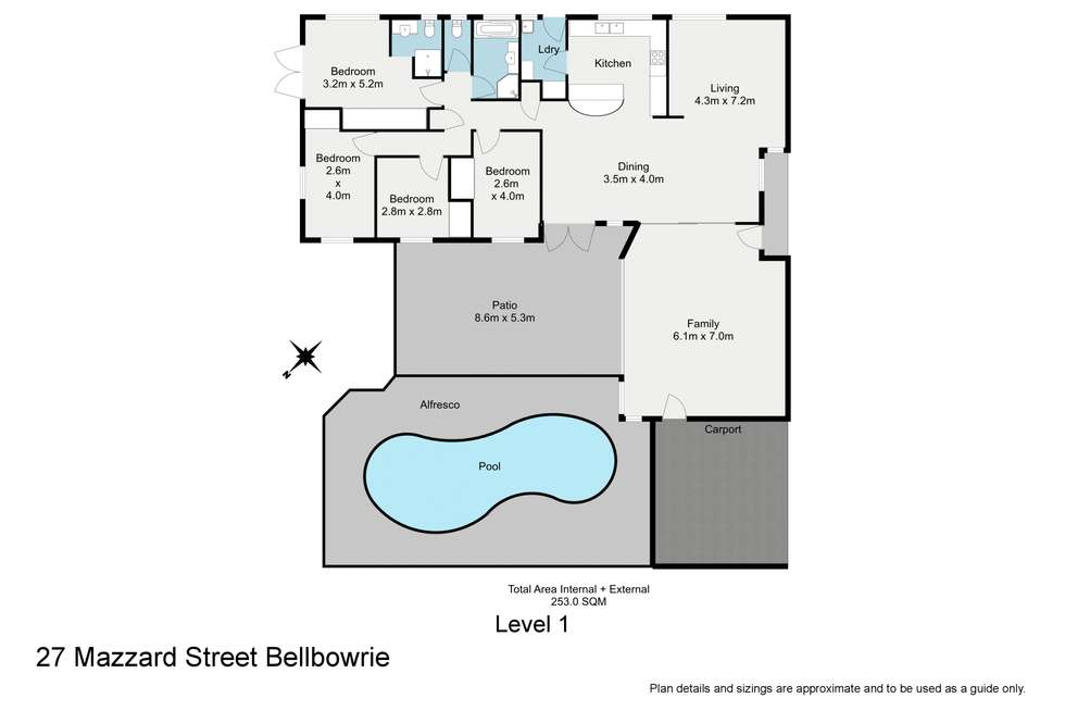 Floorplan of Homely house listing, 27 Mazzard Street, Bellbowrie QLD 4070