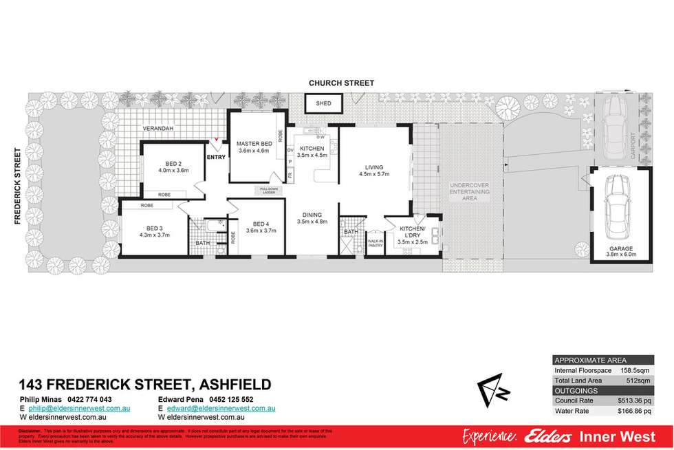 Floorplan of Homely house listing, 143 Frederick Street, Ashfield NSW 2131