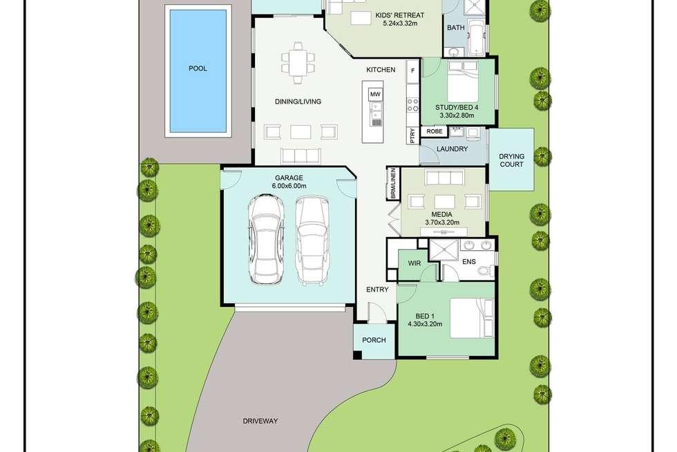 Floorplan of Homely house listing, 4 Wheeldon Court, Cooroy QLD 4563