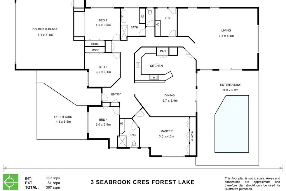 Floorplan of Homely house listing, 3 Seabrook Crescent, Forest Lake QLD 4078