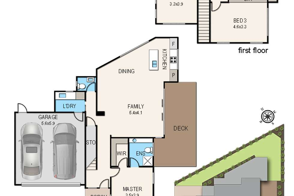Floorplan of Homely townhouse listing, 2/67 Lawson Avenue, Frankston South VIC 3199