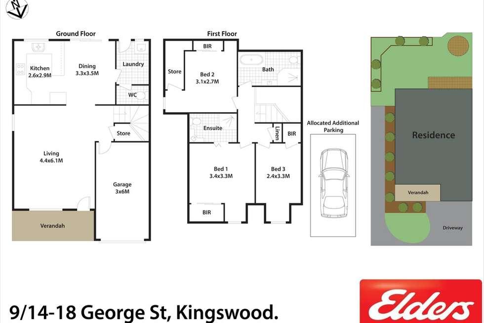 Floorplan of Homely townhouse listing, 9/14-18 George Street, Kingswood NSW 2747