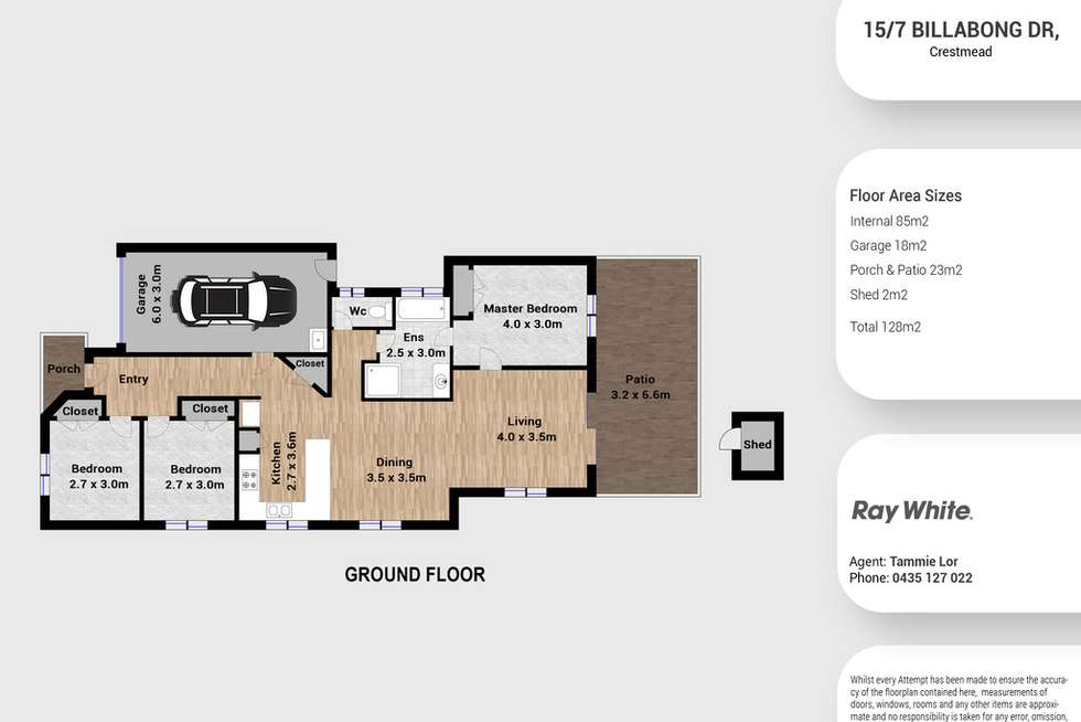 Floorplan of Homely house listing, 15/7 Billabong Drive, Crestmead QLD 4132