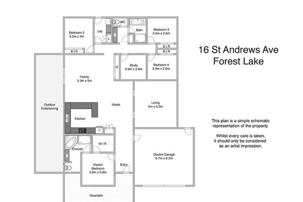 Floorplan of Homely house listing, 16 St Andrews Ave, Forest Lake QLD 4078