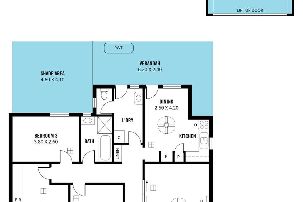 Floorplan of Homely house listing, 15 Kenney Street, Christies Beach SA 5165