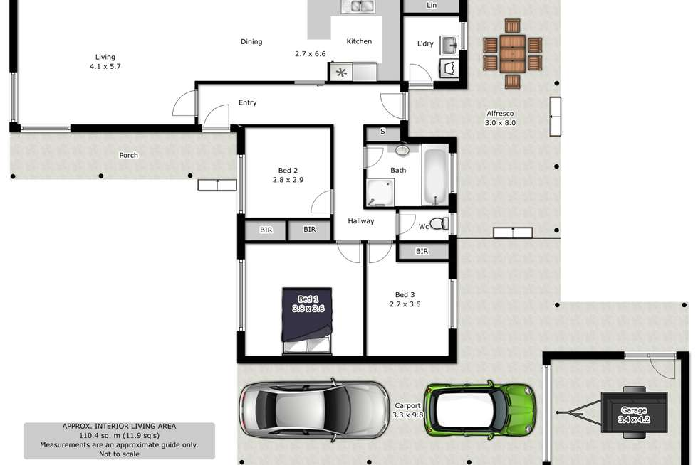 Floorplan of Homely house listing, 25 Pearce Street, Wodonga VIC 3690