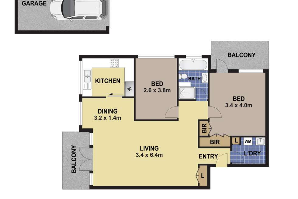Floorplan of Homely apartment listing, 9/11-13 Ormond Street, Ashfield NSW 2131