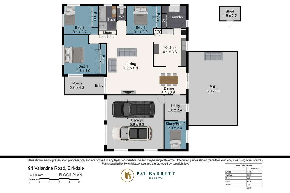 Floorplan of Homely house listing, 94 Valantine Road, Birkdale QLD 4159
