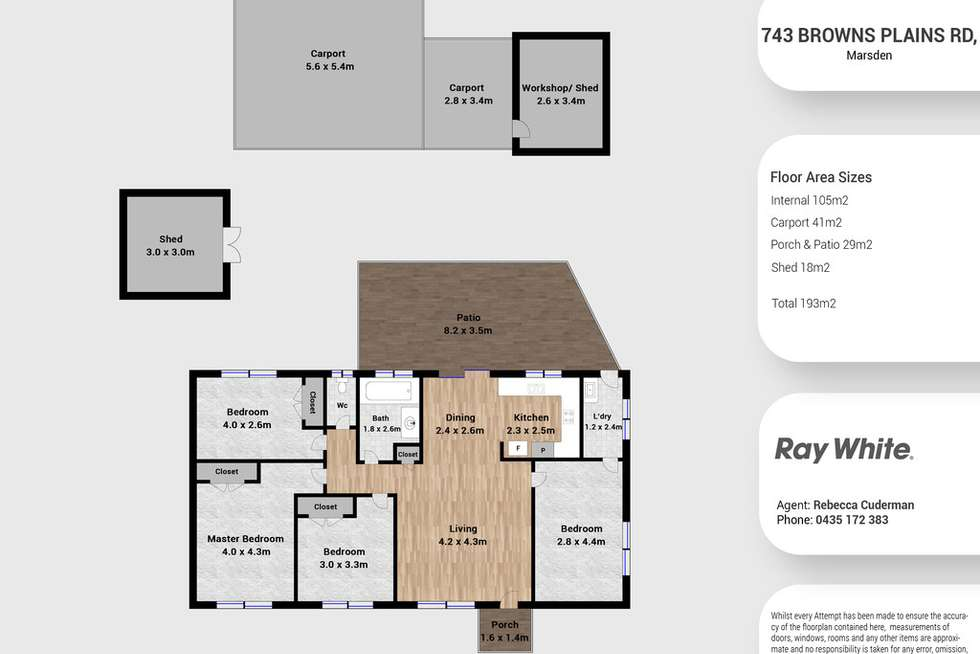 Floorplan of Homely house listing, 743 Browns Plains Road, Marsden QLD 4132