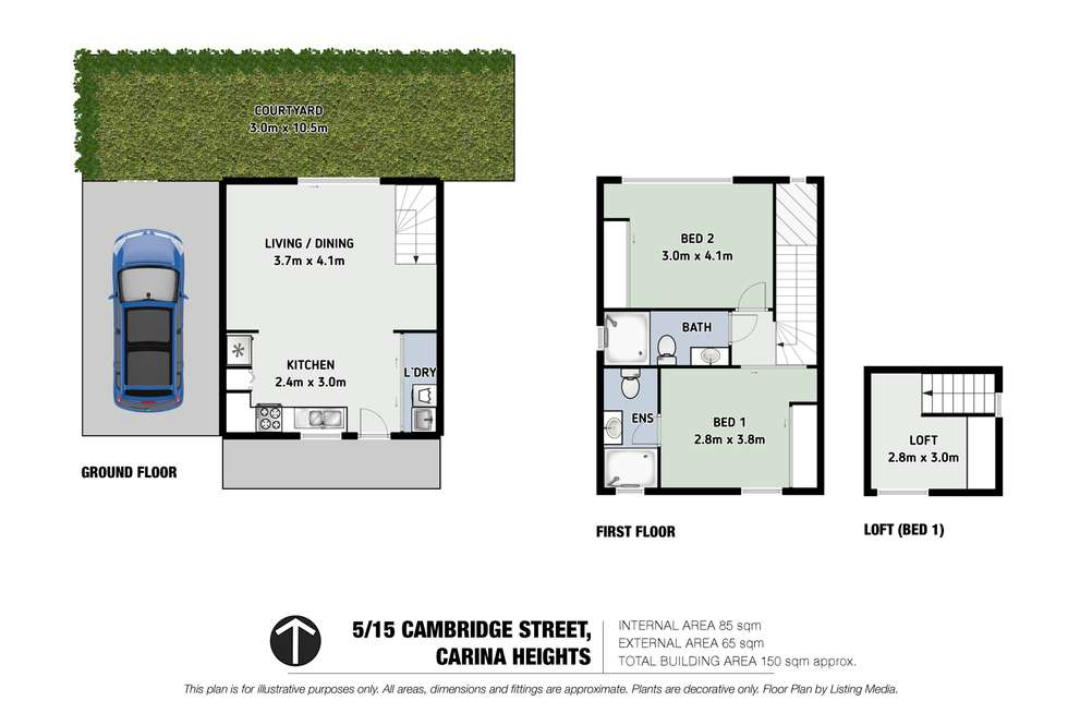 Floorplan of Homely townhouse listing, 5/15 Cambridge Street, Carina Heights QLD 4152