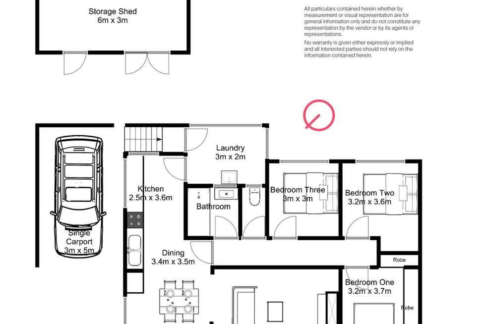 Floorplan of Homely house listing, 22 Mackay Street, Mayfield TAS 7248