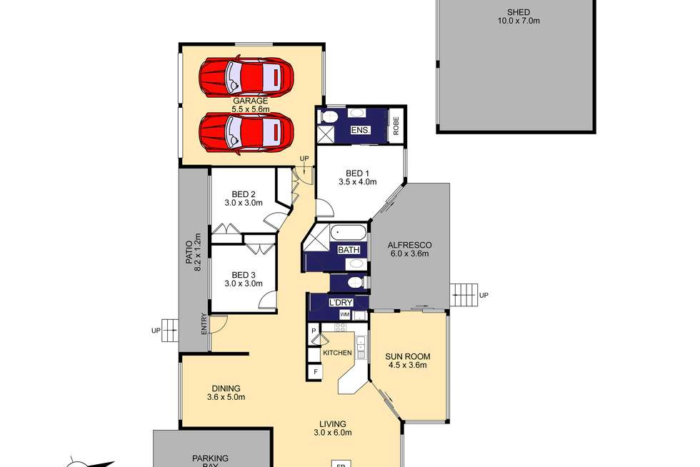 Floorplan of Homely house listing, 82 Colonial Circuit, Wauchope NSW 2446