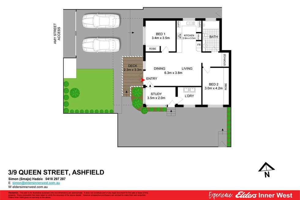 Floorplan of Homely unit listing, 3/9 Queen Street, Ashfield NSW 2131