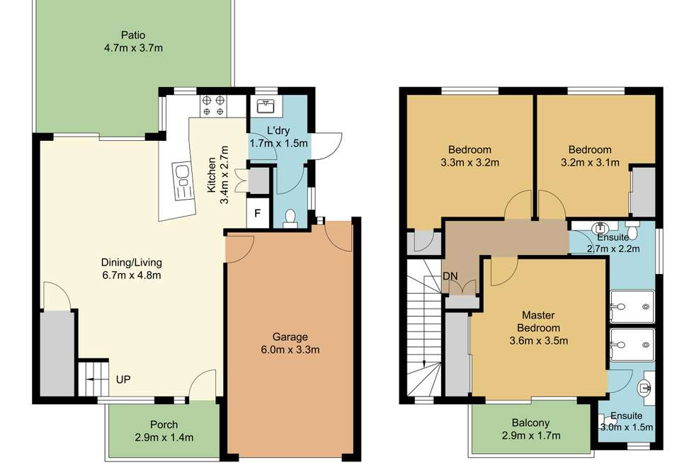 Floorplan of Homely townhouse listing, 6/50 Jones Road, Carina Heights QLD 4152