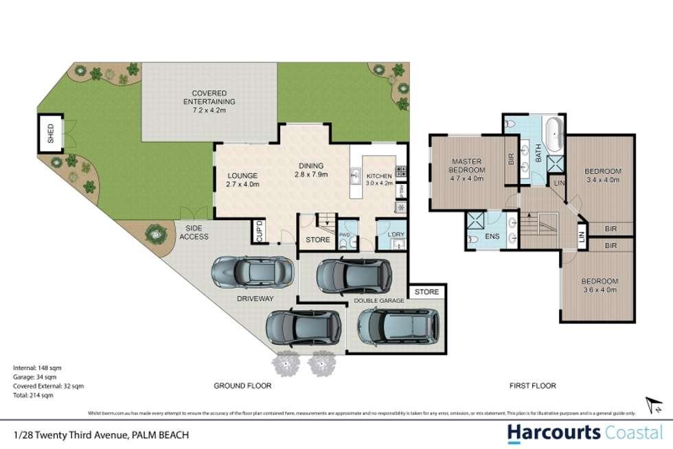 Floorplan of Homely unit listing, 1/28 Twenty Third Avenue, Palm Beach QLD 4221