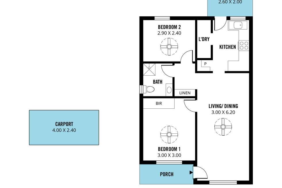 Floorplan of Homely unit listing, 14/19 Hillier Road, Morphett Vale SA 5162